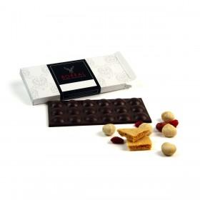 Chocolate con leche, Nueces de Macadamia, Sponge Toffee y Frambuesa
