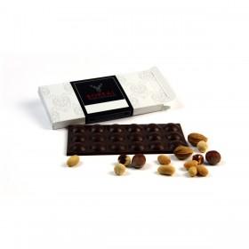 Chocolate negro suave con Almendras, Avellanas y Cacahuete