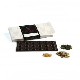 Chocolate negro suave con Semillas (Calabaza, Girasol y Sésamo)