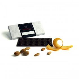 Chocolate negro afrutado con Naranja y Almendras