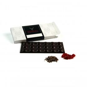 Chocolate negro afrutado con Nibs y Frambuesa