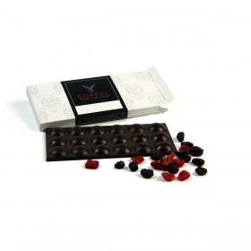 Chocolate negro intenso con mix de Frutos Rojos