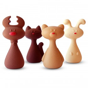 Figuras animales de chocolate