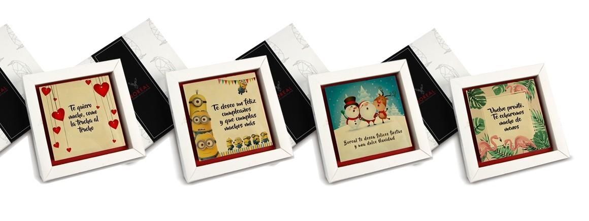 Boreal Vegan Chocolatier - Mensaje impreso en chocolate - Tienda online
